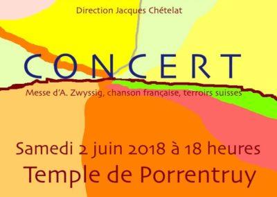 Concert Juin 2018 Choeur Accord et Bacchanal Chor Aesch